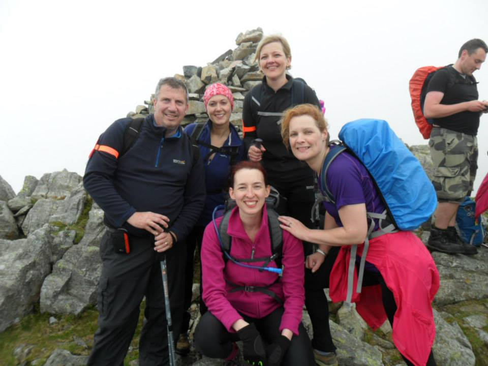 All of us at the top of Lingmell
