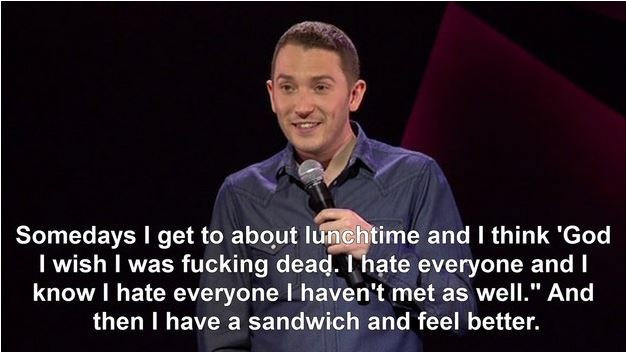 "Jon Richardson summarising ""Hanger""."