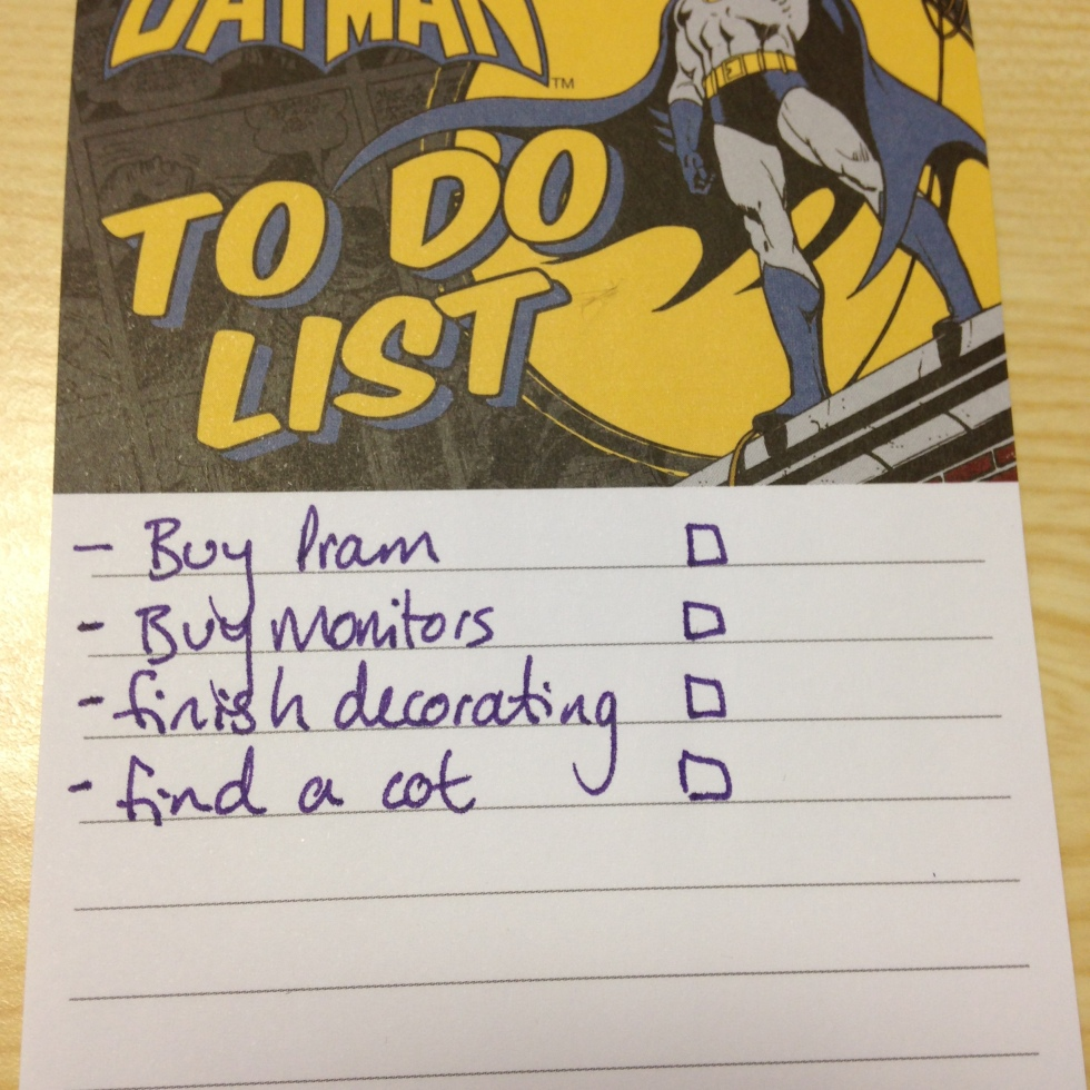 "The start of my ""to do"" list"