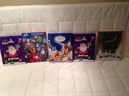 Our advent calendars.