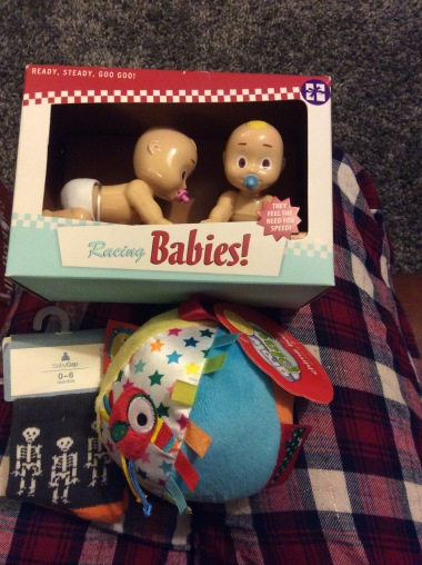Socks, a chiming ball and racing babies from Brook & Becca