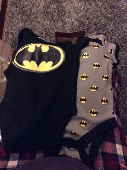 Awesome Batman vests from my sister Laura.