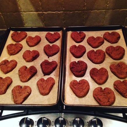 The V-Day cookies I baked for Sam